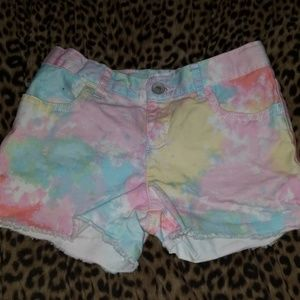 SIZE 8 GIRKS SHORTS TIE DYED NEW NO TAGS